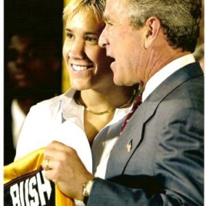 Maria med George W Bush